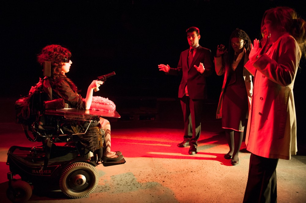 """Production photo from Citizens theatre's young company show """"The Elevator Pitch"""""""