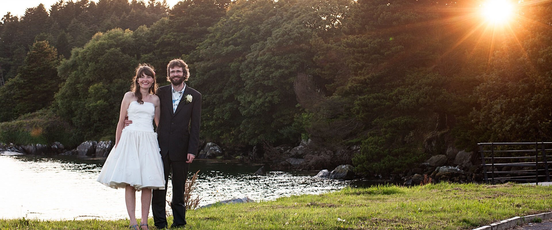 Timeless wedding photography - Evening light over Bantry Bay