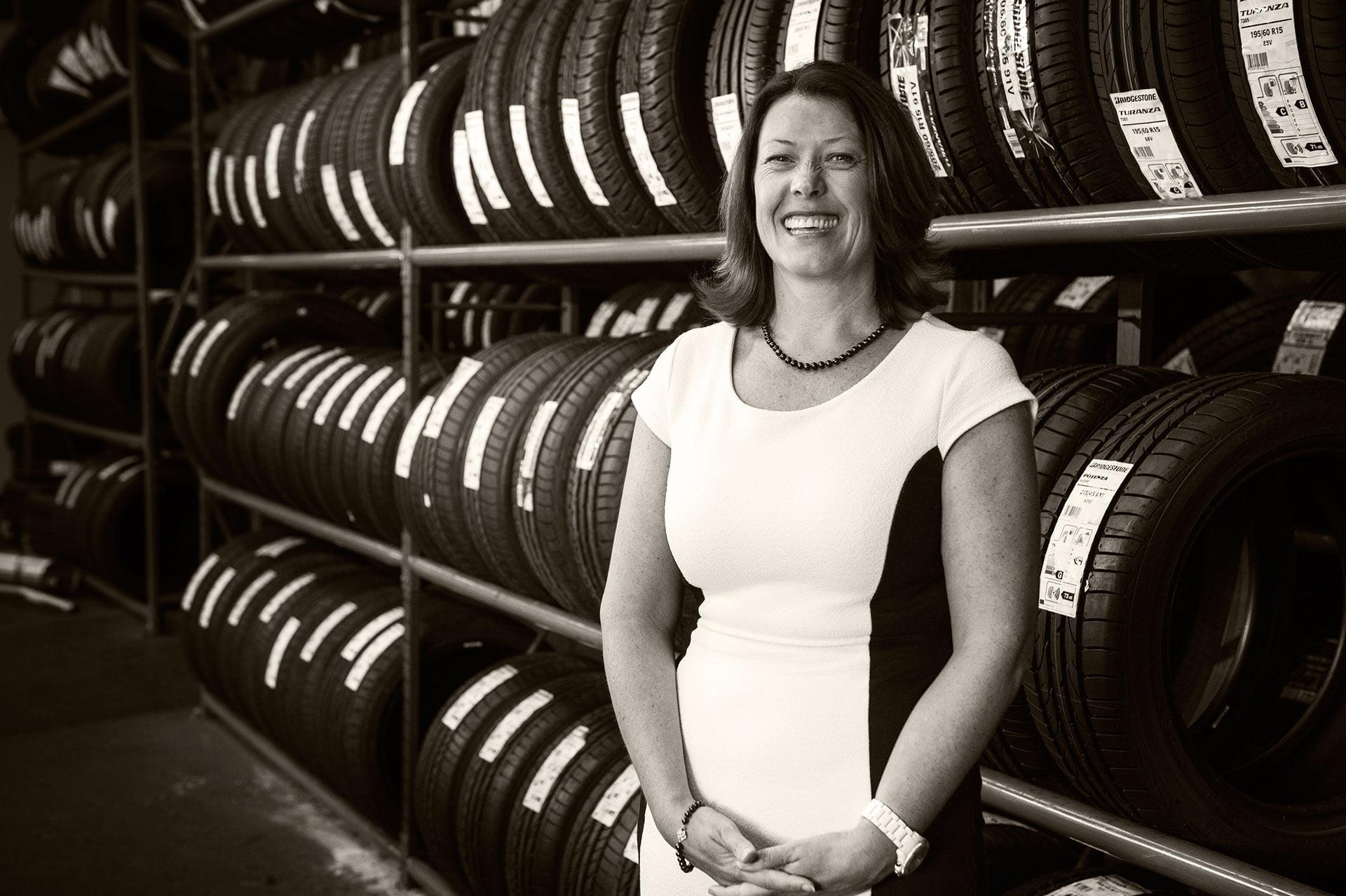 Battlefield National Tyre Company - Lezley Dalziel - Magazine Portraits