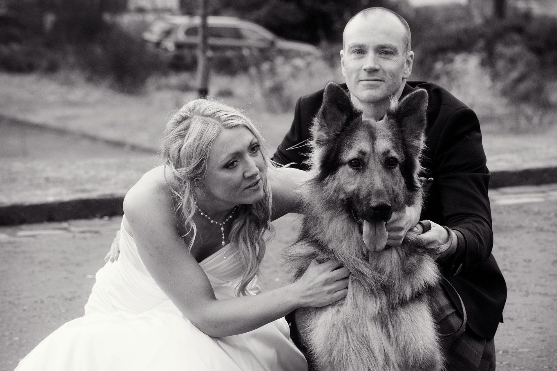wedding photography at Glenskirlie castle