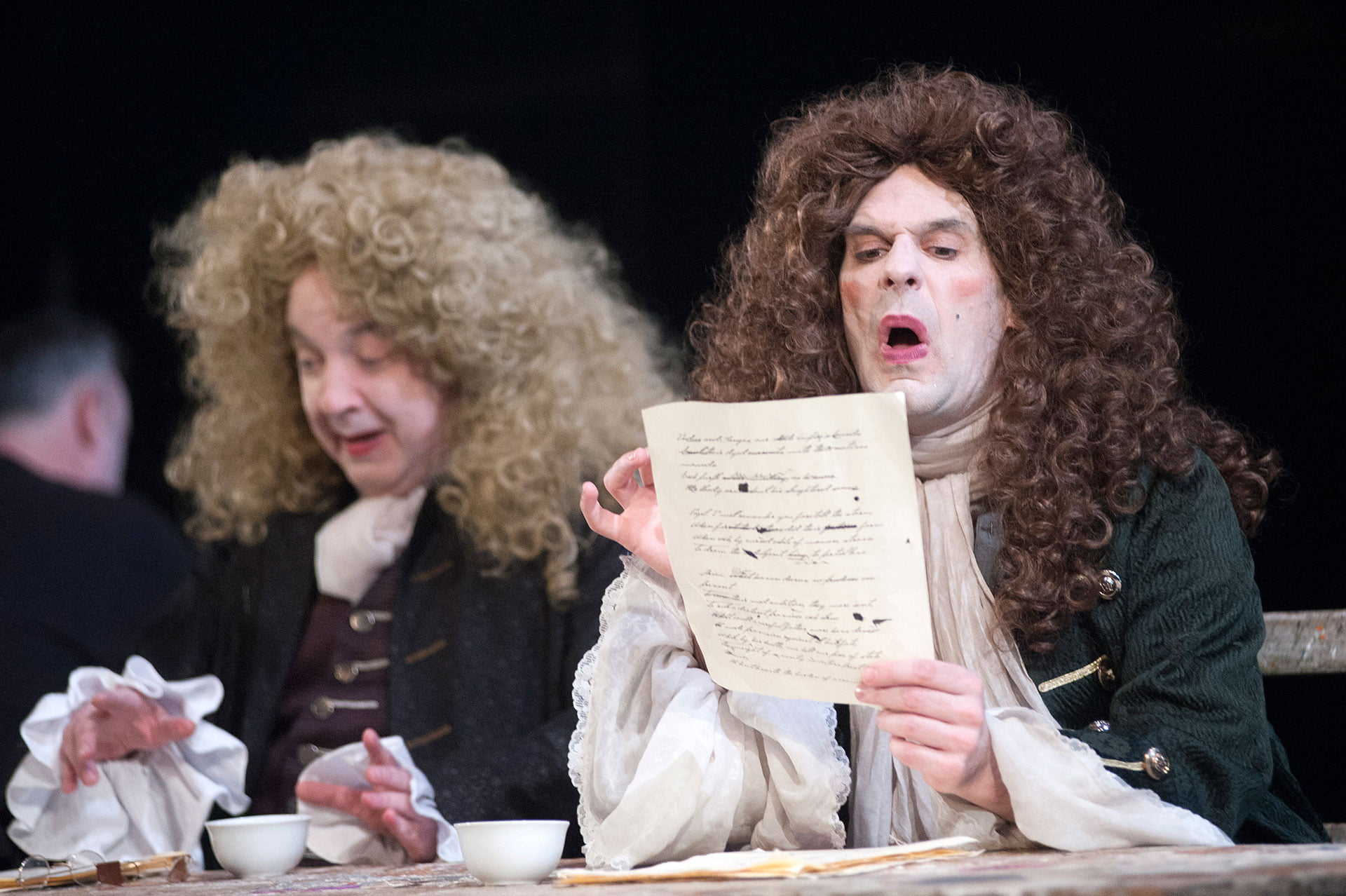 Production photo from Stephen Jeffreys' The Libertine at the Citizens Theatre