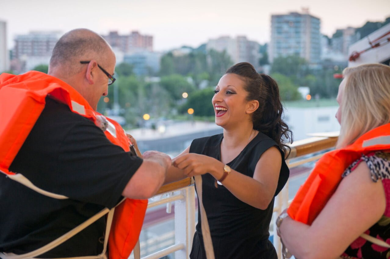 On deck - cruise line photography - event