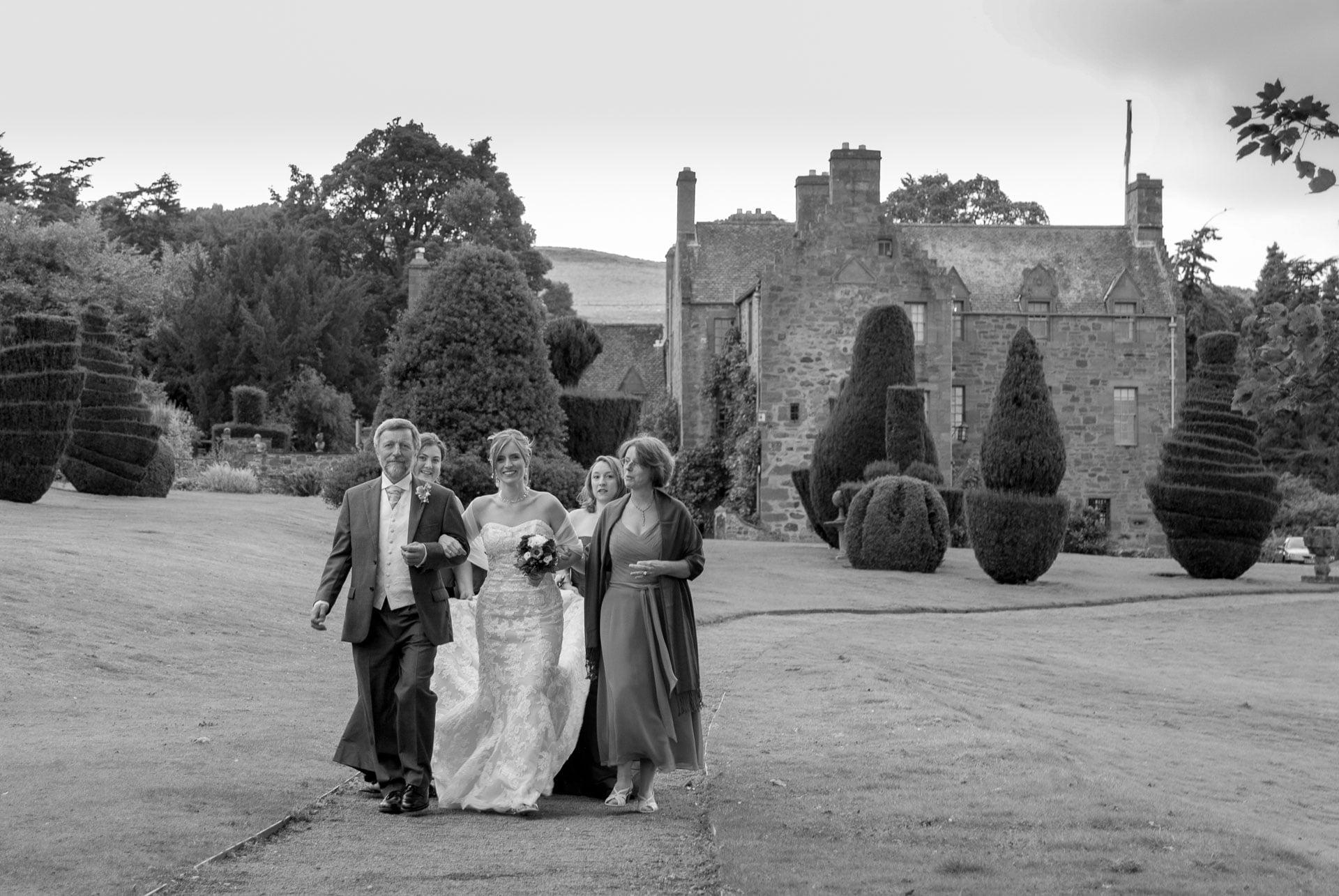 Fingask castle wedding - Bridal Party