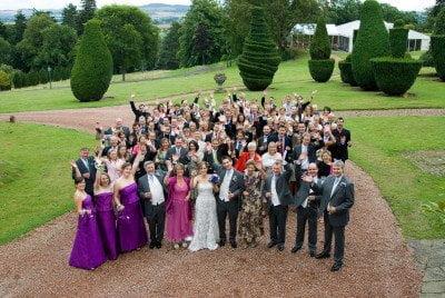 Fingask castle wedding - Group